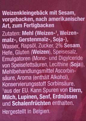 Bagels Sesam - Ingredients - de