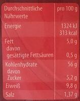 Bagels Sesam - Informations nutritionnelles - de