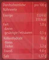 Bagels Sesam - Nutrition facts - en