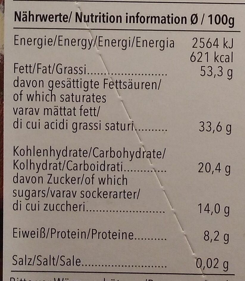 Feine Bitter 85% Cacao Santo Domingo - Voedingswaarden - de