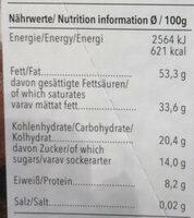 Chocolat noir biologique - Voedingswaarden