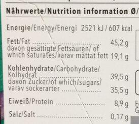 Lait noisettes entières - Informations nutritionnelles - fr