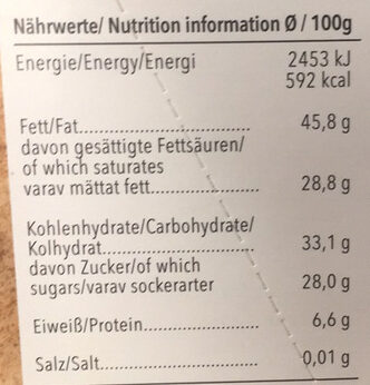 Chocolat Amer 70% Cacao - Informations nutritionnelles - fr