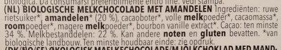 Chocolat Au Lait Amande - Ingrediënten - nl