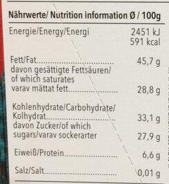 Edel Bitter Chili - Informations nutritionnelles - fr