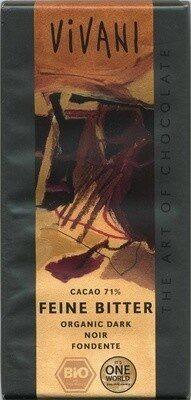 Zartbitter-Schokolade Feine Bitter mit 71 % Kakao - Produkt - de