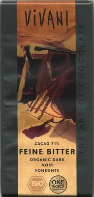 Zartbitter-Schokolade Feine Bitter mit 71 % Kakao - Produkt