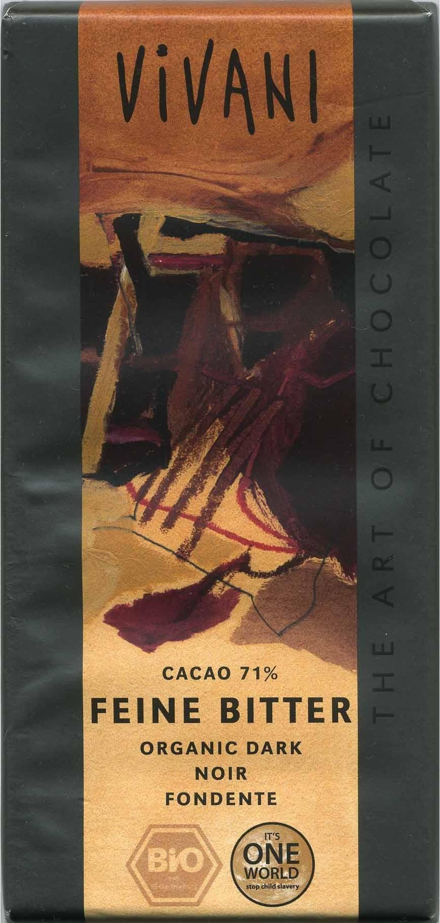 Zartbitter-Schokolade Feine Bitter mit 71 % Kakao - Producto