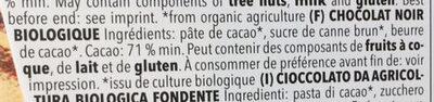 Zartbitter-Schokolade Feine Bitter mit 71 % Kakao - Ingrédients - fr