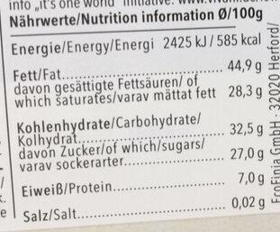 Zartbitter-Schokolade Feine Bitter mit 71 % Kakao - Informations nutritionnelles - de