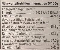 Feine Bitter Orange - Nutrition facts