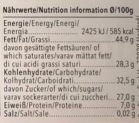 Feine Bitter Orange - Voedingswaarden