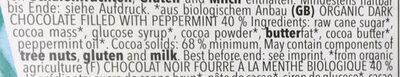 Chocolat Fourre Menthe - Ingredients - en