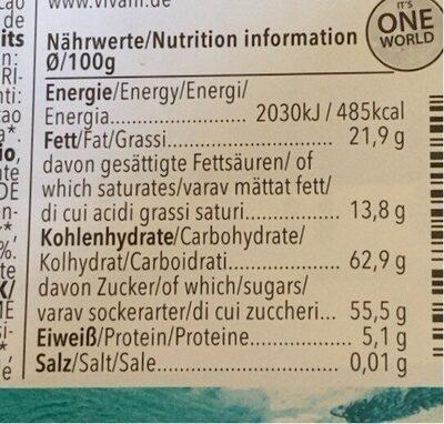 Chocolat Fourre Menthe - Nutrition facts - de