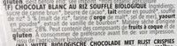 Chocolat blanc croustillant - Ingrediënten