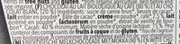 Chocolat Capuccino - Ingredients