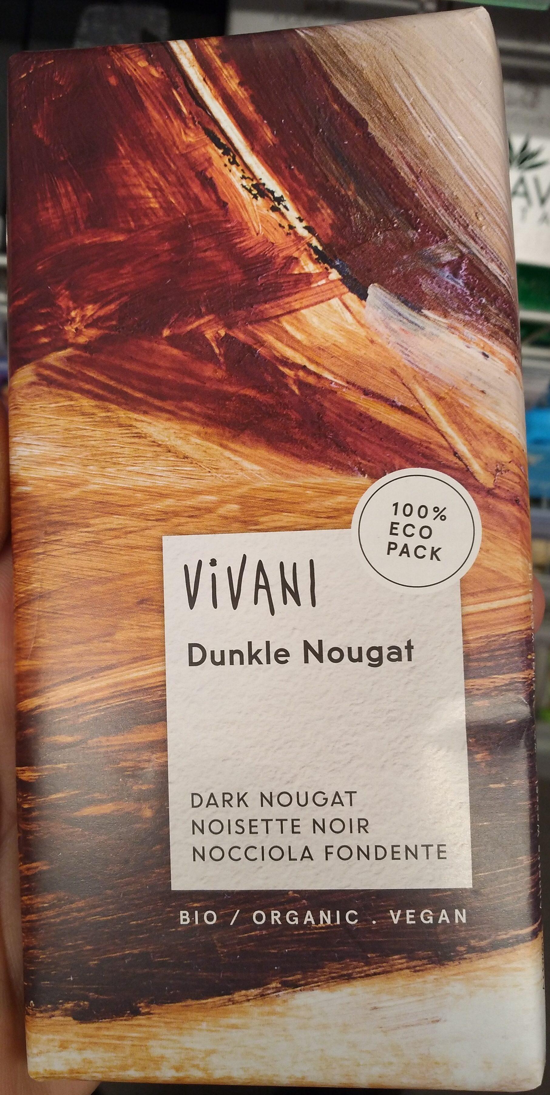 Vivani Chocolat Dunkle Nougat - Product - de