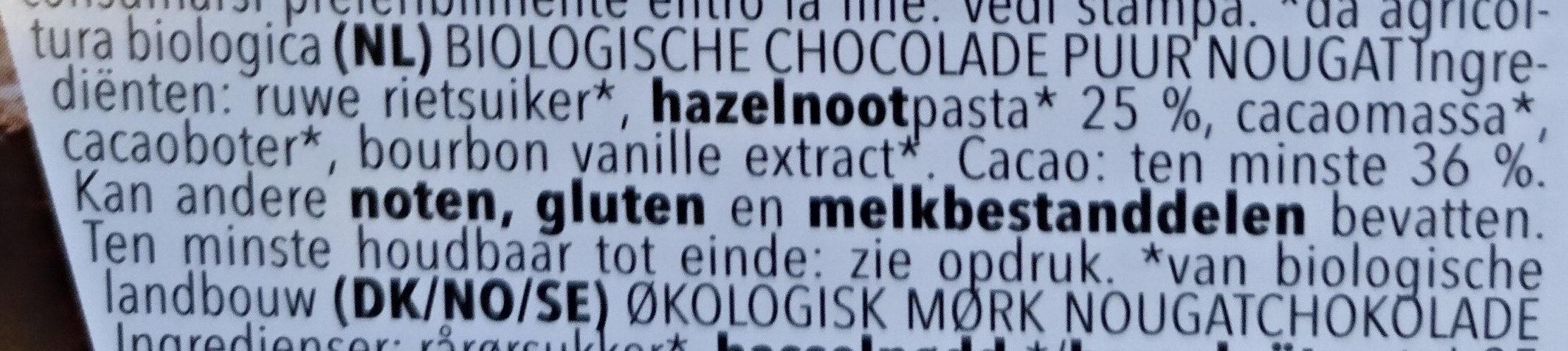 Vivani Chocolat Dunkle Nougat - Ingrediënten - nl