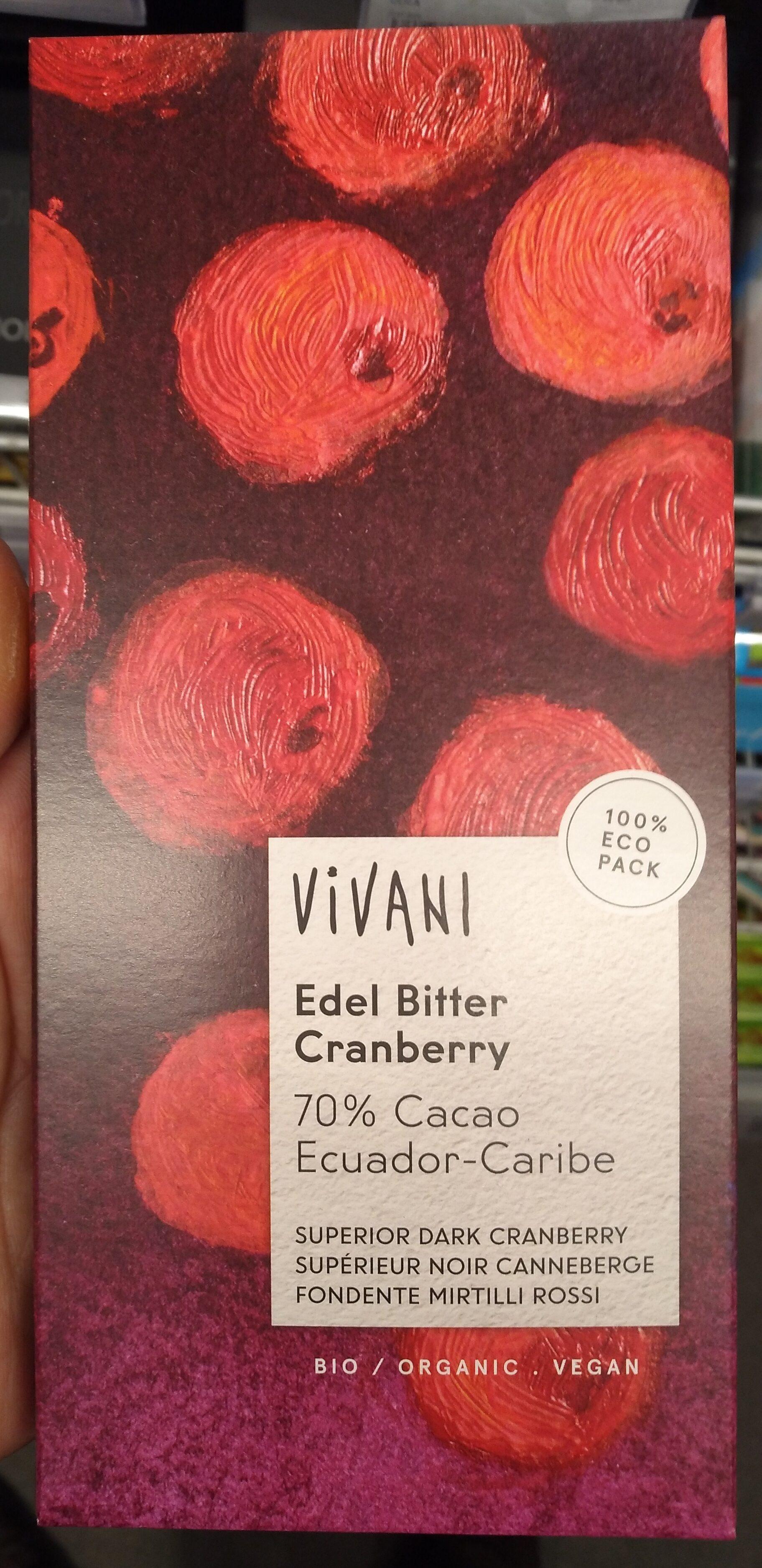 Edel Bitter Cranberry 70% Ecuador-Caribe - Product - de