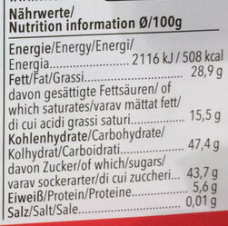 Vivani feine bitter marzipan amaretto - Nutrition facts - de
