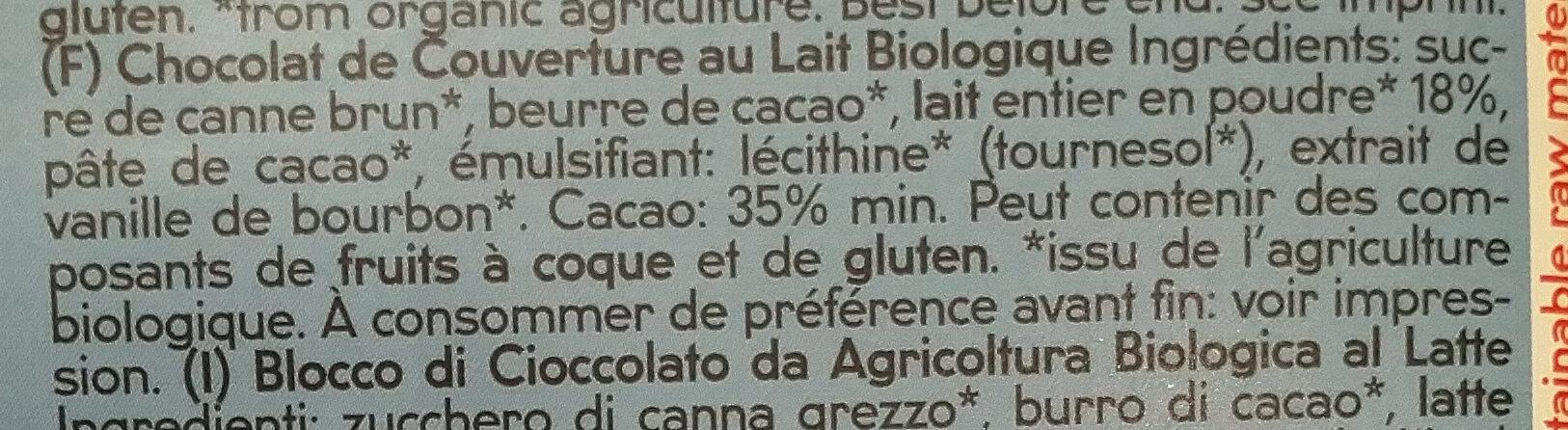 Chocolat au lait dessert - Ingrédients - fr