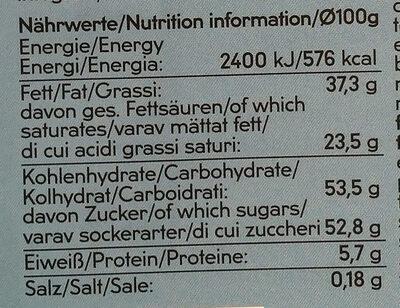 Chocolat au lait dessert - Informations nutritionnelles - fr