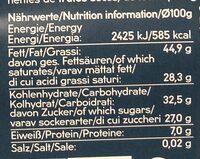Feine Bitter Kuvertüre - Voedingswaarden - de