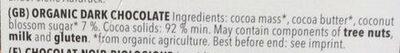 Chocolat noir 92% Panama - Ingredients - en