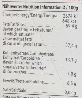 Feine Bitter 92% cacao Panama - Voedingswaarden - de
