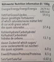 Chocolat noir 92% Panama - Nutrition facts - fr