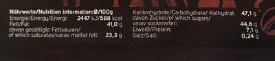 Espresso biscotti - Informations nutritionnelles - de