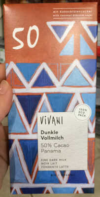 Dunkle Vollmilch 50% Cacao Panama - Product - de