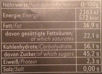 Rice Choc 40% Cacao - Informations nutritionnelles