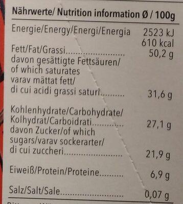 Feine Bitter 75% Cacao Panama - Voedingswaarden - de