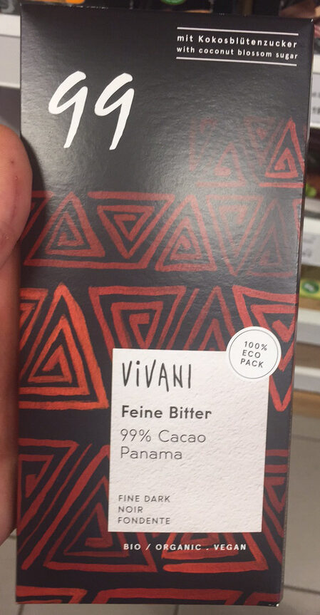 Fine Bitter 99% cacao Panama - Product
