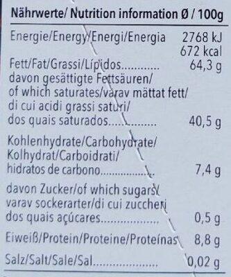 Feine Bitter 99% Cacao Panama - Voedingswaarden - de