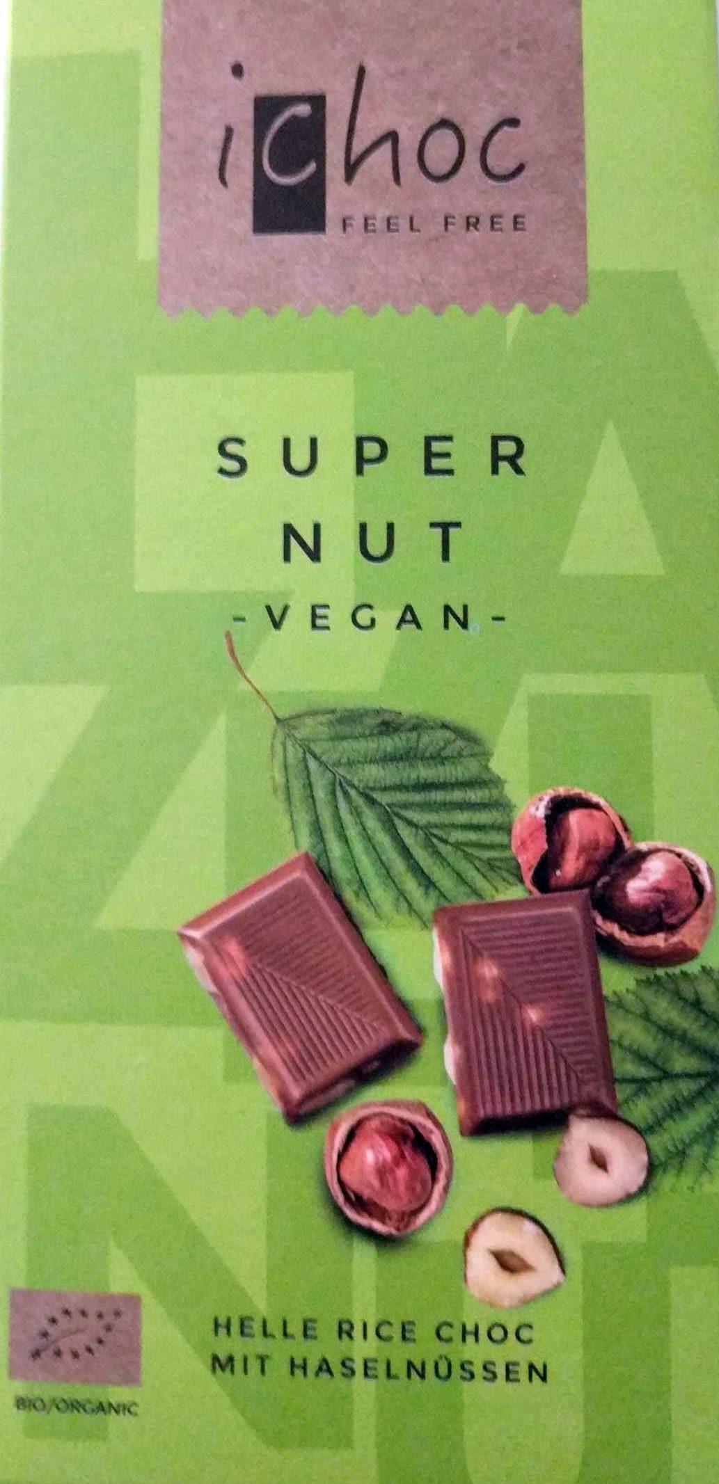 super nut vegan ichoc 80 g e