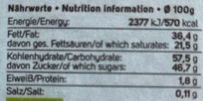 Ichoc Milkless - Rice Choc Classic, 80 GR Stück -vegan - Nutrition facts