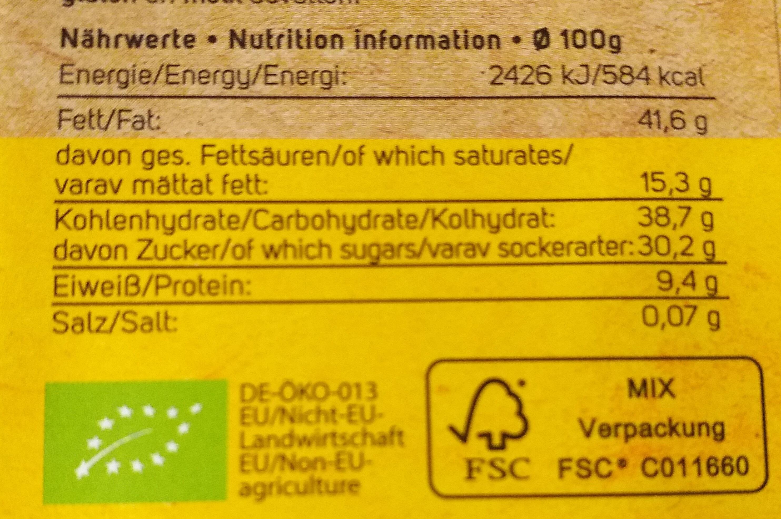 Tumma Suklaa, Manteli-nougat Crisp (sunny Almond) - Informations nutritionnelles - fr