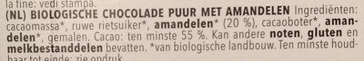 Zartbitter Mandel - Ingrediënten - nl