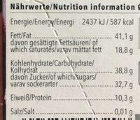 Zartbitter Mandel - Voedingswaarden - de