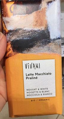 Chocolat VIVIANI Noisettes et Blanc Matte macchiato praliné - Product