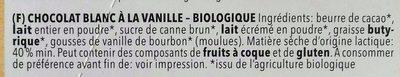 Weiße Vanille - Ingrediënten