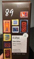 Vivani 89% cacao Peru - Product