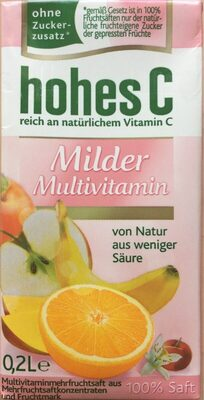 Eckes Granini, Hohes C, Mildes Multivitamin Fruchtsäfte - Product - fr