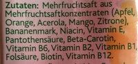 Eckes Granini, Hohes C, Mildes Multivitamin Fruchtsäfte - Ingrediënten - fr