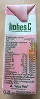 Eckes Granini, Hohes C, Mildes Multivitamin Fruchtsäfte - Voedingswaarden - fr
