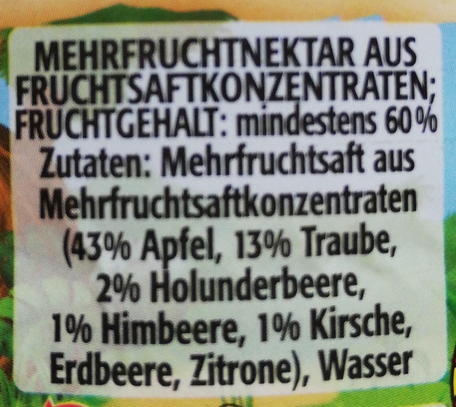 Fruchttiger - Ingrediënten - de