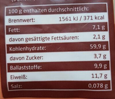 Bio Schoko Müsli - Nutrition facts - fr