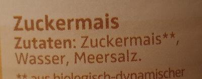 Zuckermais - Zutaten - de